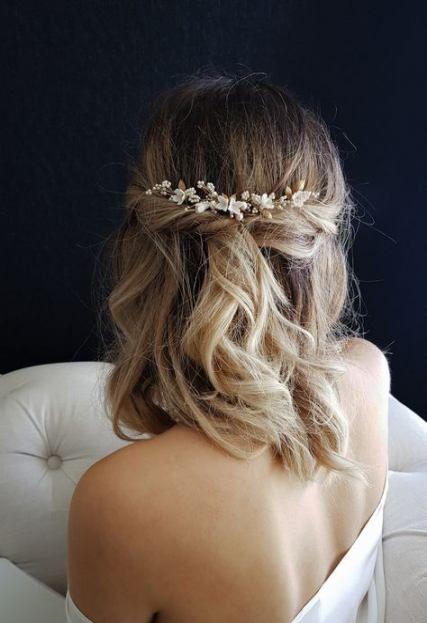 53 Fashionable wedding ceremony veils brief hair curls