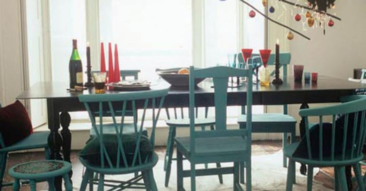I am loving the look of mismatched dining chairs.  What do you think?