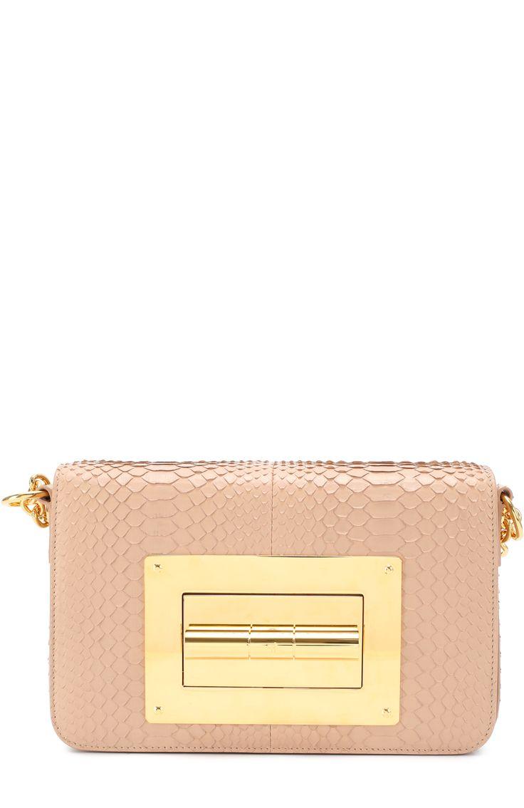Женская розовая сумка medium natalia из кожи питона Tom Ford, сезон FW 16/17, арт. L0826T/P26 купить в ЦУМ   Фото №1