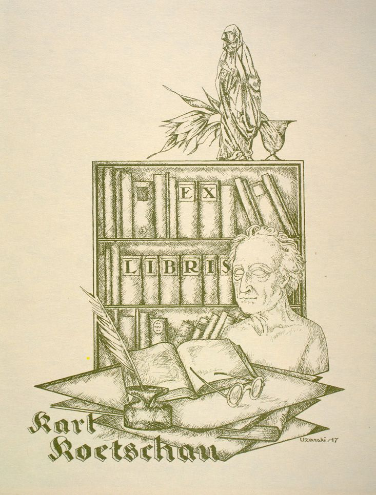 Karl Koetschau Bookplate by Adolf Uzarski Rare Books and Special Collections Division McGill University Libraries