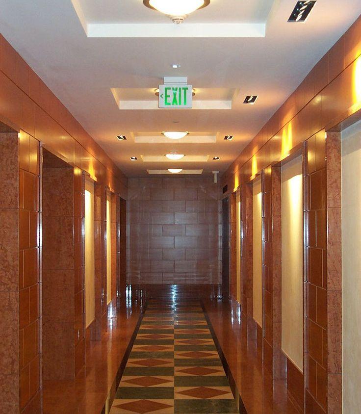 abc interior, elevator corridor