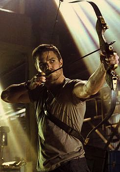 Stephen Amell as Green Arrow/ Oliver Queen. I really like this show and the comic series it follows