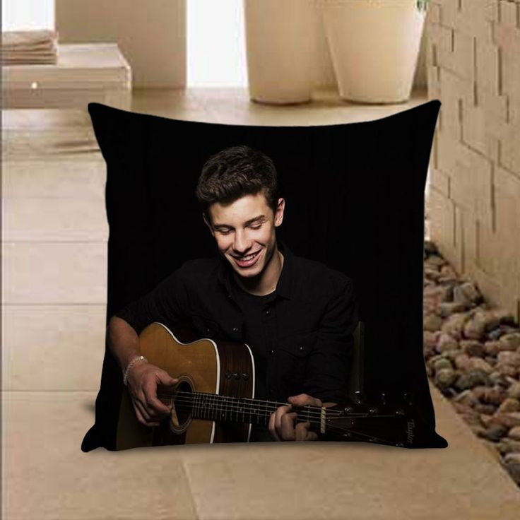 Shawn Mendes Magcon Pillow Cover Throw Pillowcase 16x16 18x18 inches #Handmade #TwinSides