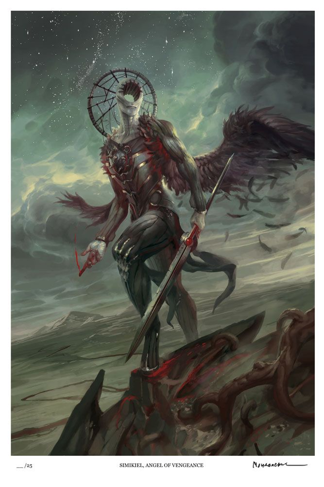 Simikiel, Angel of Vengeance (Limited Edition) — Angelarium