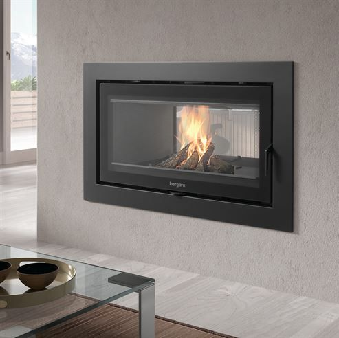 NEW Hergom Sere 100 Double Sided - NEW FOR SPRING 2015 Wood burning double sided stove