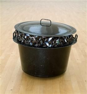 Large Pot of Mussels - Marcel Broodthaers