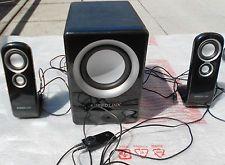 Speedlink VIVENTE  2.1 Subwoofer Soundsystem Lautsprecher für PC, Handy , S L- 8
