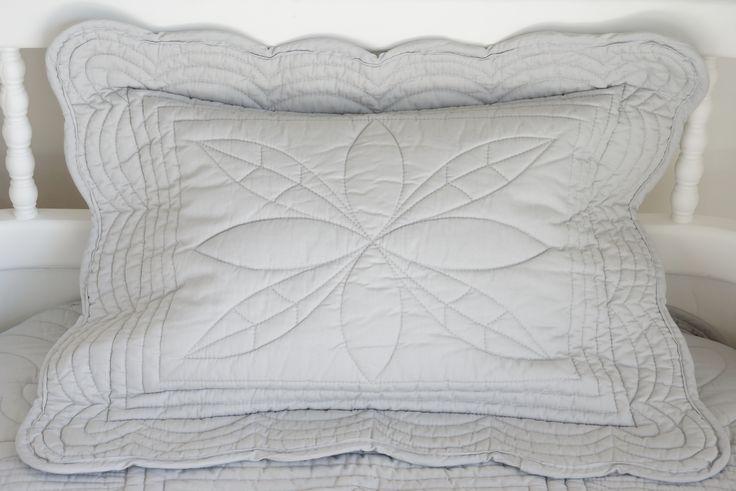 Bonne Mère Baby Cot quilt pillow. Colour Mist
