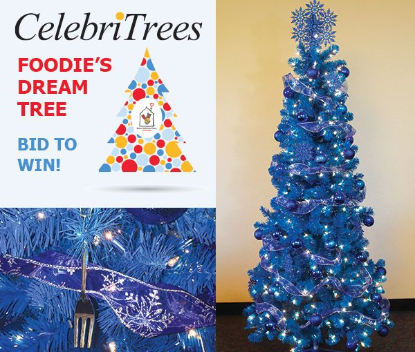 The CelebriTree auction is live! Bid on the Foodie's Dream Tree at http://trees.myab.co/   Bay Area Foodie Chap Liam Mayclem and 1300 on Fillmore Chef David Lawrence want you to have a blue Christmas with the spectacular tree laden with gifts and goodies sure to please!