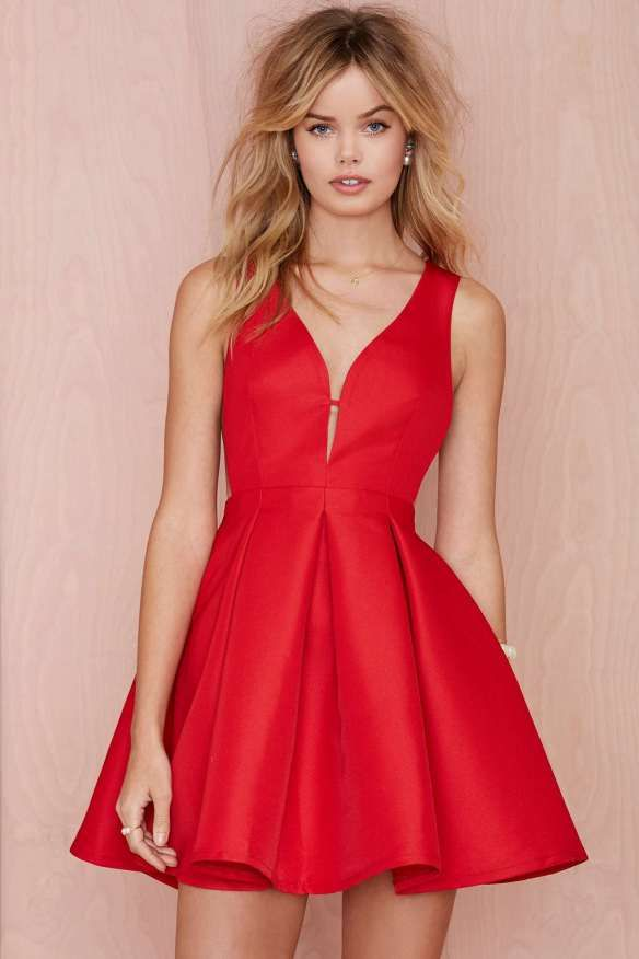 de fiesta para gal vestido rojo abullonado