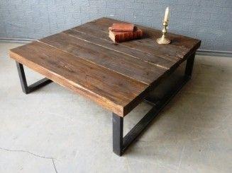 wood & metal custom table - Bing images