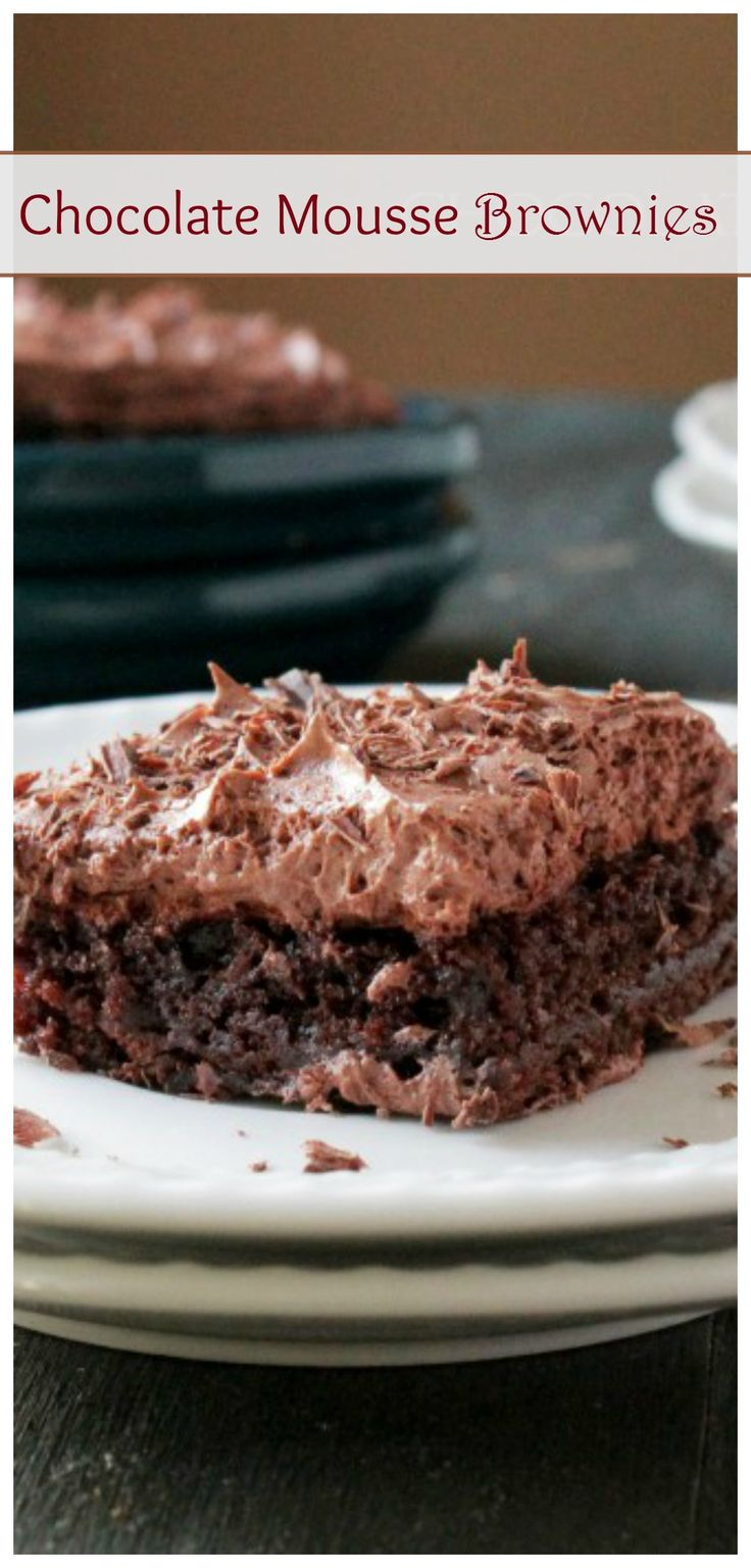 Chocolate Mousse Brownies | Recipe | Fudgy Brownies, Mousse and ...
