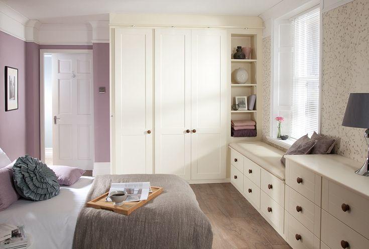 shaker wardrobes cream bedroom furniture from sharps. Black Bedroom Furniture Sets. Home Design Ideas