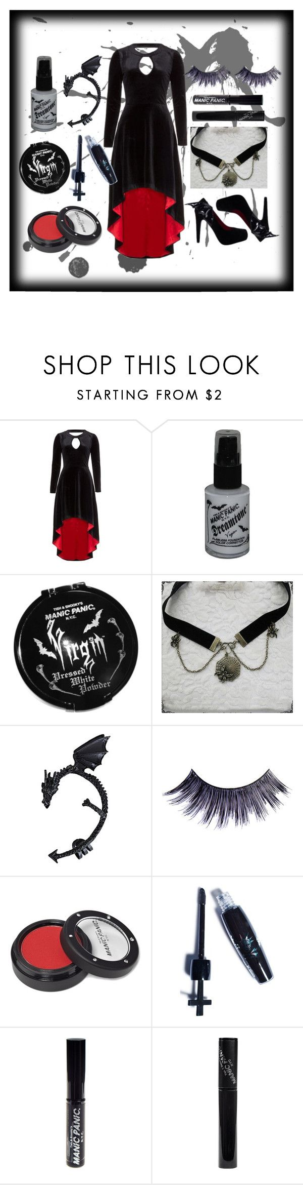 """""""Outfit #4"""" by dea-style on Polyvore featuring Manic Panic, COS, outfit, goth, manicpanic and redandblack"""
