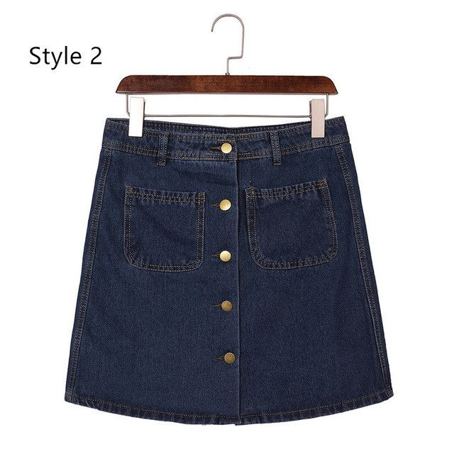 Fashion Summer Style Ladies Denim Skirts 2017 Women Vintage Jean Miniskirt Blue High Waist Package Hip Retro Short Pencil Skirt