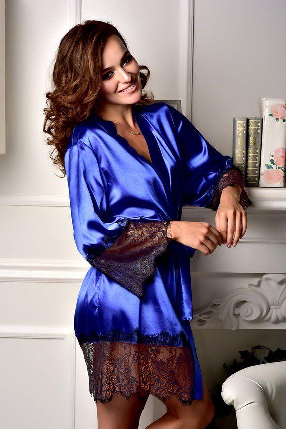 9b6be4eda3d2 Pajama set women Bridal robe Pajama and robe set Kimono robe ...