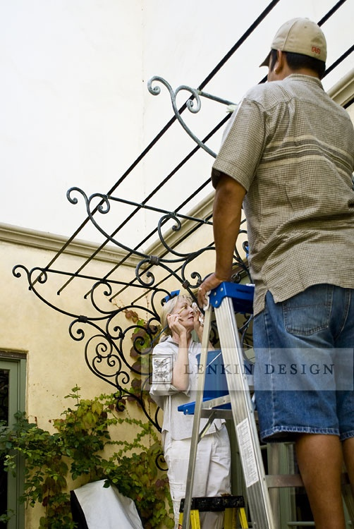Faux-finishing for new wrought iron work