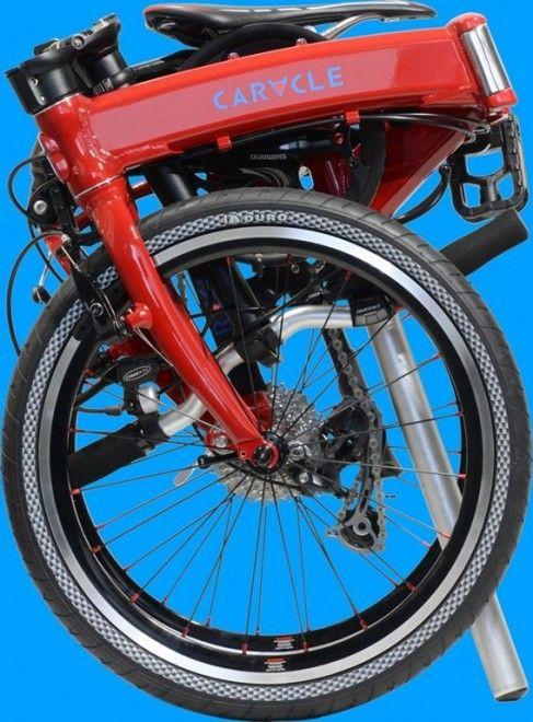 20インチ車輪からはみ出さない、世界最小の折りたたみ自転車、CARACLE-S(カラクル・エス)。