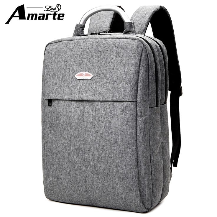 Amarte 15.6 Inch Laptop Backpack Bag Men Backpack Canvas Backpack For Laptop 15.6Inch Notebook Bag School Rucksack Male Mochila