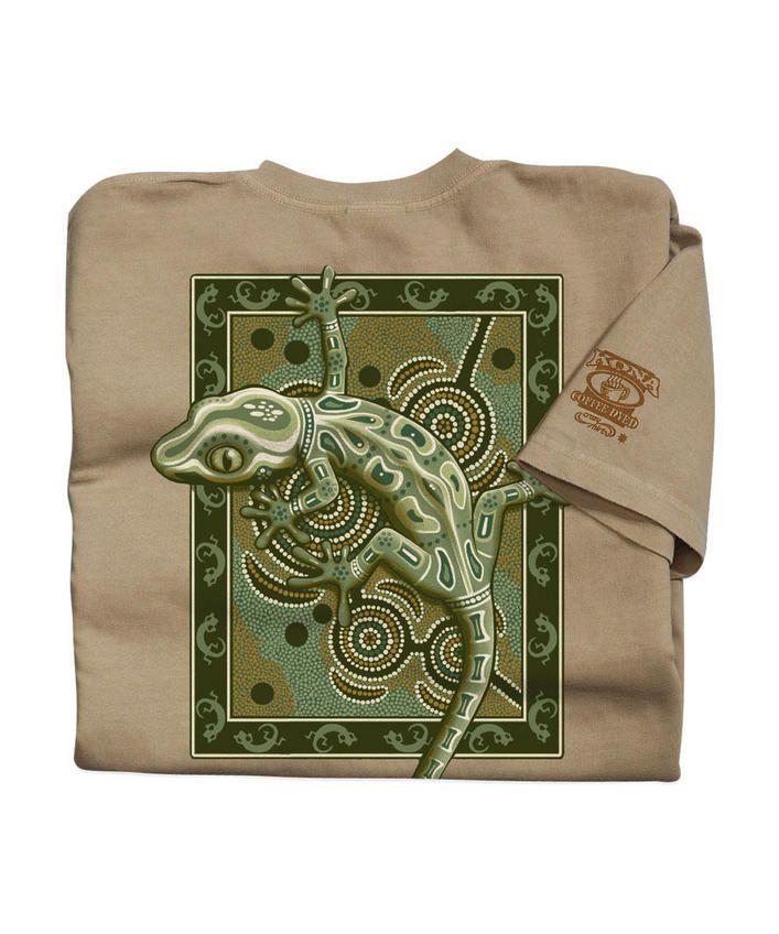 Gecko Mosaic - Kona Coffee-Dyed The Classic Crew
