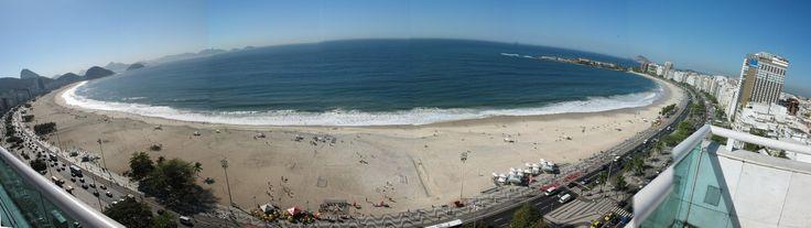 Copacabana beach from Hostel PESTANA