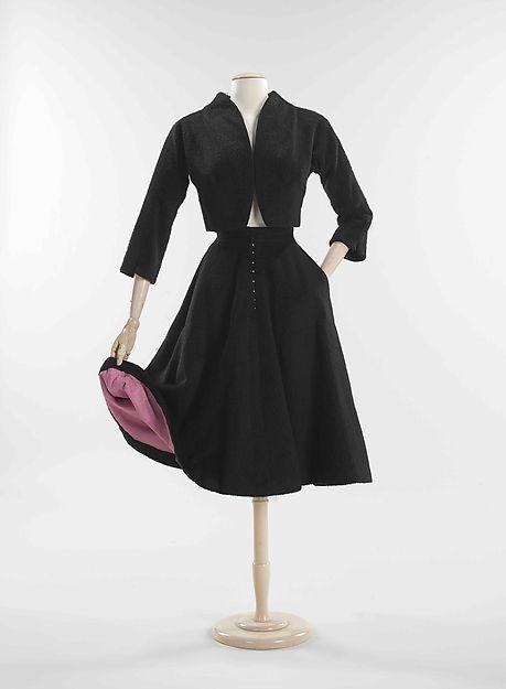 Suit, Designer: Bonnie Cashin (American, Oakland, California 1908–2000 New York) Date: 1950 Culture: American Medium: wool, silk