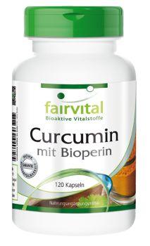 Curcumin mit Bioperin - 120 Kapseln