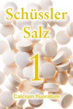 Wie wichtig das Schüssler Salz 1, das Calcium fluoratum, für das Bindegewebe ist und wie auch Zähne und Knochen vom Schüssler Salz Nr. 1 profitieren ...