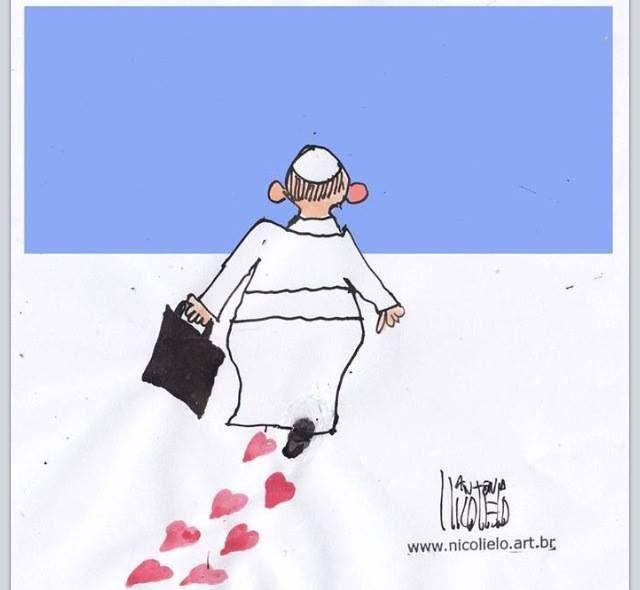 Papa Francisco, Pope Francis repartiendo amor..