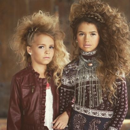 Tween glamour! Big hair don't care! We're So Fancy blog. #tweenfashion