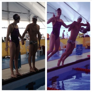 Michael Phelps & Allison Schmitt in their last practice together ever