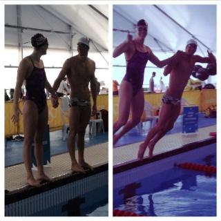 Michael Phelps & Allison Schmitt in their last practice together ever