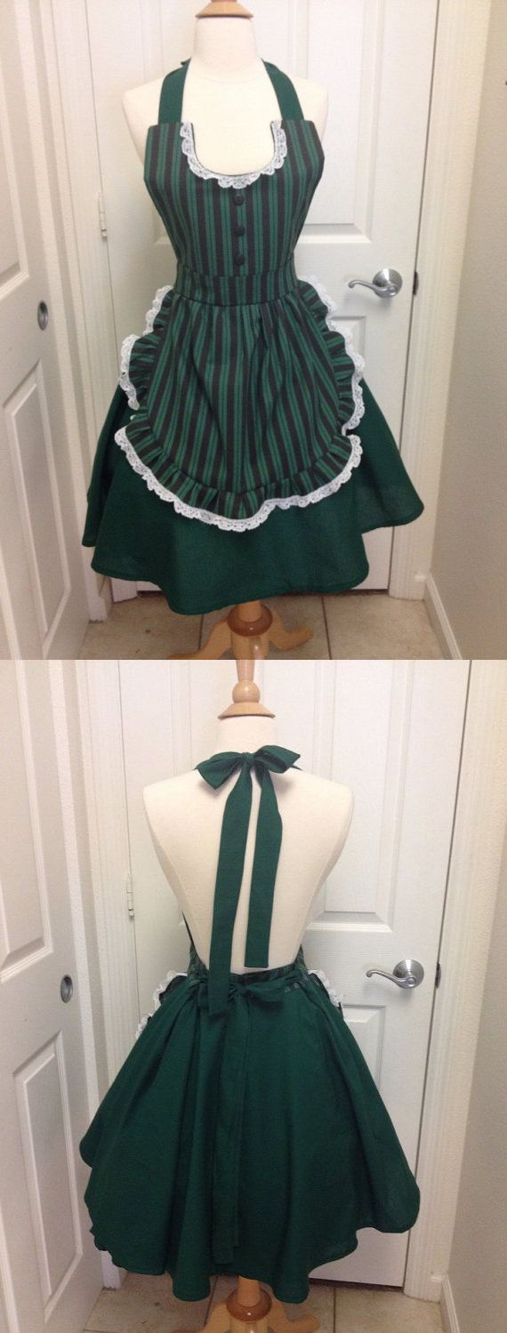 It's a Haunted Mansion Halloween Party, so what does the Ghost Hostess wear?  Why, a Haunted Mansion maid's apron, of course!