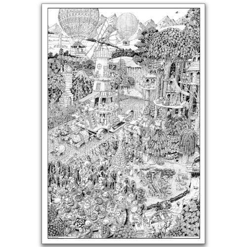 wildergorn color in posters potters road giant coloring poster 27 x - Posters To Color