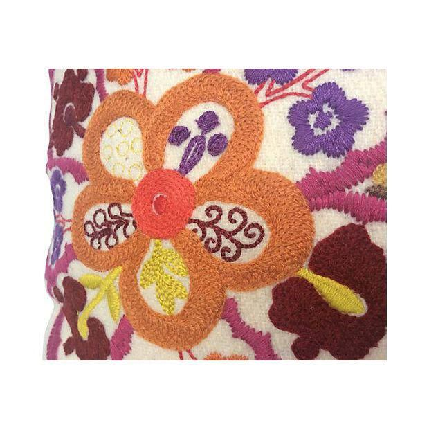 Pierre Frey Embroidered Floral Pillow - Image 5 of 6