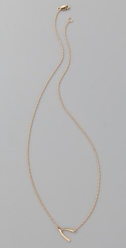 gold wishbone necklace.  Follow us on #facebook:  http://www.facebook.com/MODEBayArea