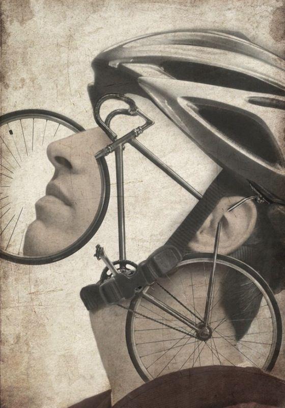 Marco Cremascoli.Marcocremascoli, Inspiration, Bikes, Illustration, Art Piece, Marco Cremascoli, Mixed Media, Art Collage, Bicycles Art