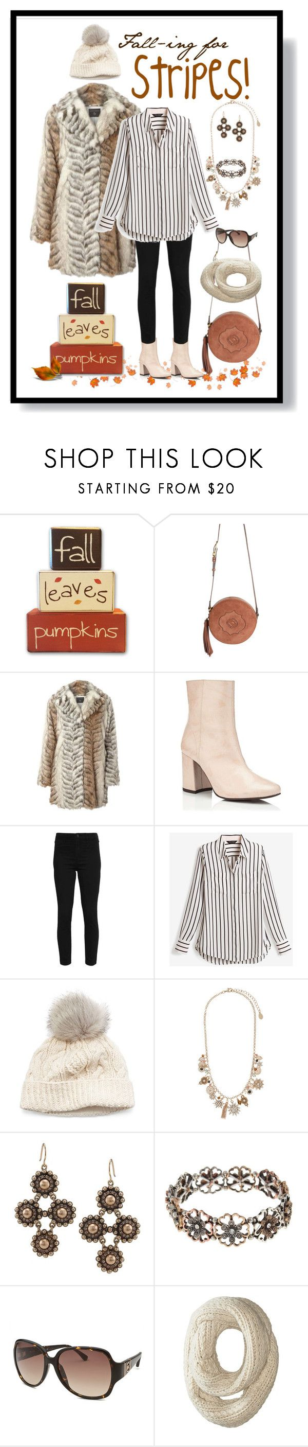"""""""Fall-ing for Stripes!!"""" by ms-ironickel ❤ liked on Polyvore featuring Oryany, Miss Selfridge, Hollister Co., White House Black Market, SIJJL, Accessorize, Carolee, Decree, Michael Kors and Roxy"""
