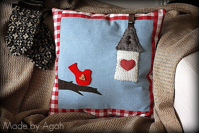 I'll Wait Outside Cushion by made by agah, via Flickr
