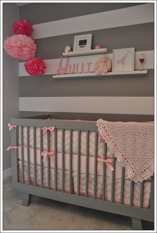 17 mejores ideas sobre dormitorios gris rosas en pinterest - Color paredes habitacion bebe ...