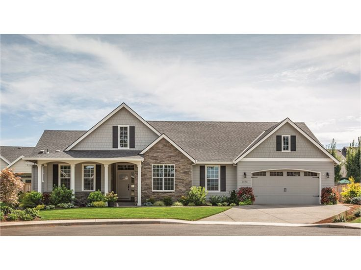 Home plan homepw02310 is a gorgeous 1873 sq ft 1 story 3 for 2000 sf ranch house plans
