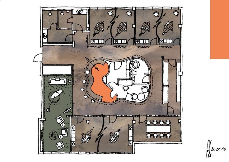 Dental INN - final sketch by Peter Stasek Architect