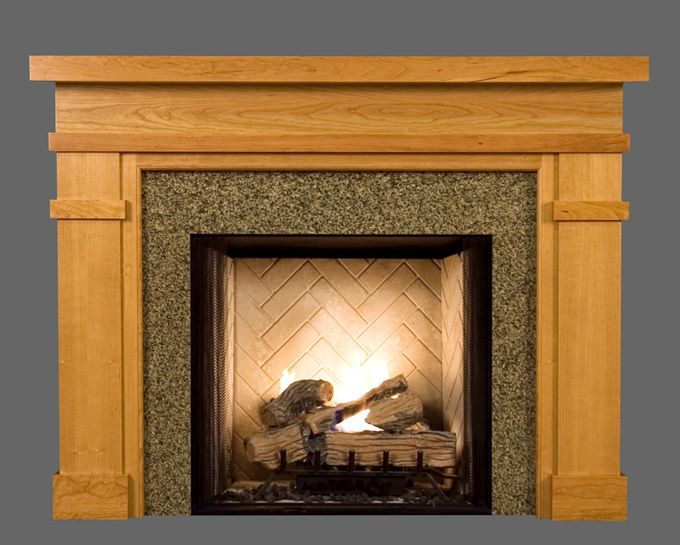 1000 ideas about craftsman fireplace mantels on pinterest for Prairie style fireplace