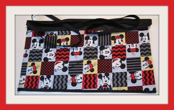 Mickey Mouse Apron,Makeup Apron,Women Apron,Waitress Apron,Vendor Apron,Customized Apron,personalized Apron,custom Aprons,Half Apron,