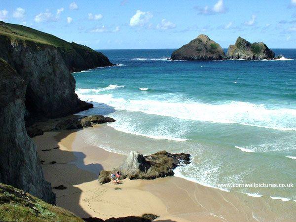 Holywell Bay Gull Rocks Cornwall