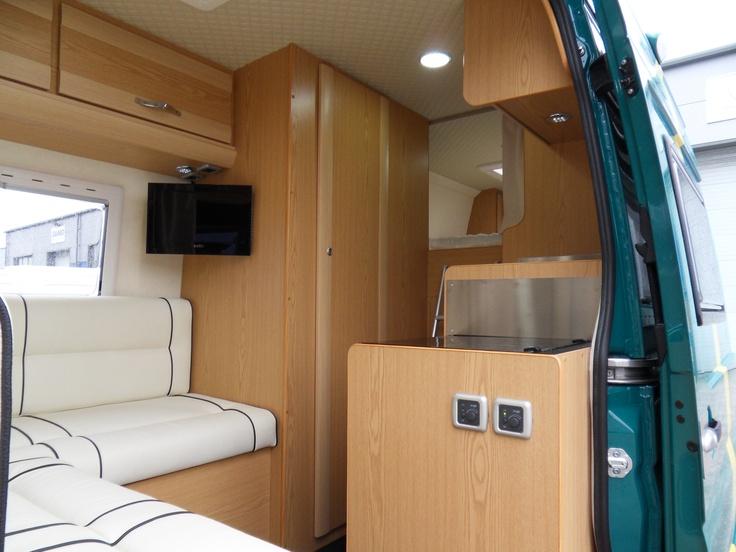 Inside Vw Crafter Motorhome Camper Interior Pinterest