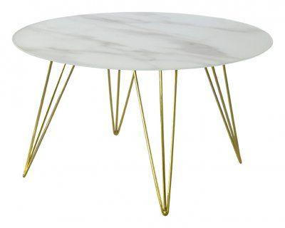Sevilla+soffbord+marmor+mässing