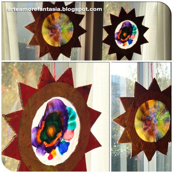 il sole dentro: tutorial per realizzare un acchiappasole insieme ai bambini    arteamorefantasia.blogspot.com