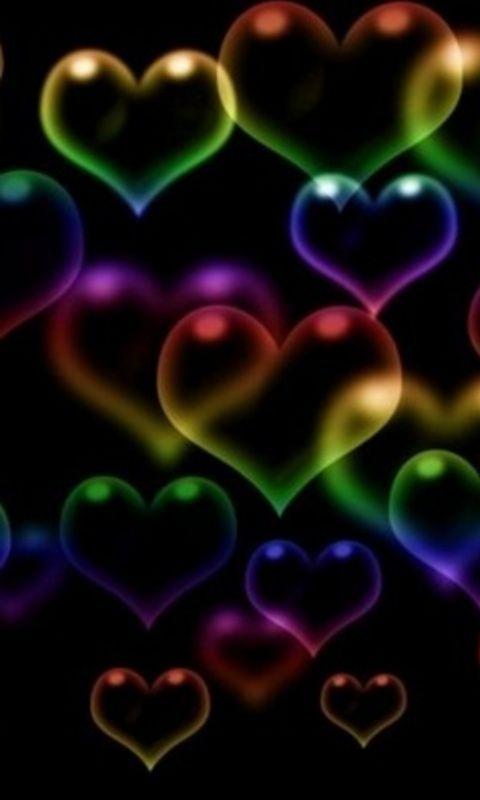 Floating Hearts Heartsies Pinterest Heart Heart Wallpaper And Rainbow Heart