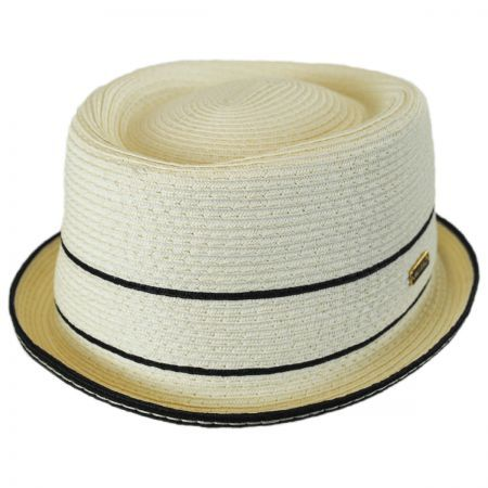 Fine Toyo Straw Braid Pork Pie Hat  e67e21f20eb
